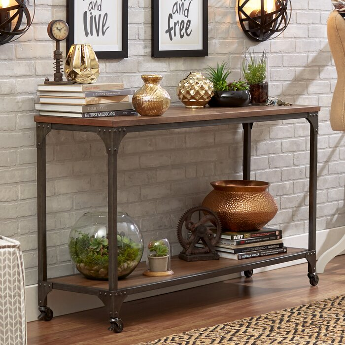 rustic console & sofa tables you'll love | wayfair