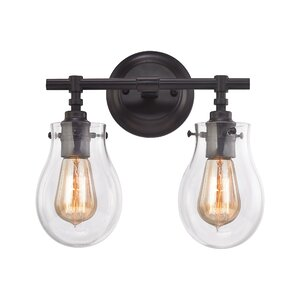 Sarita 2-Light Incandescent Vanity Light