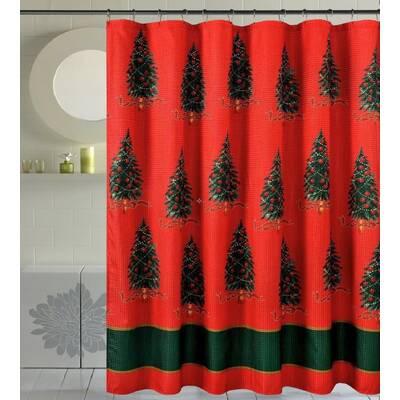 Bath Christmas Decorative Trees Shower Curtain