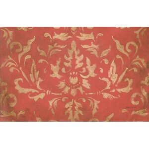 Golden Baroque Red Area Rug