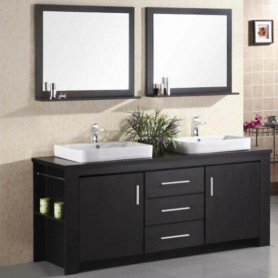 Blaser Double Bathroom Vanity Set With Mirror