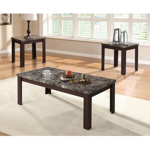 Lovely Carly 3 Piece Coffee Table Set