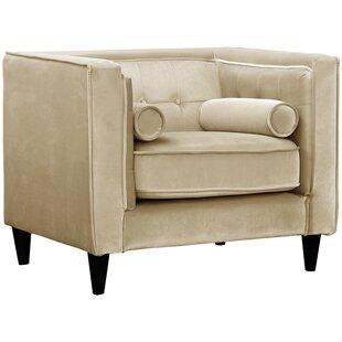 Merveilleux Light Taupe Club Chair | Wayfair