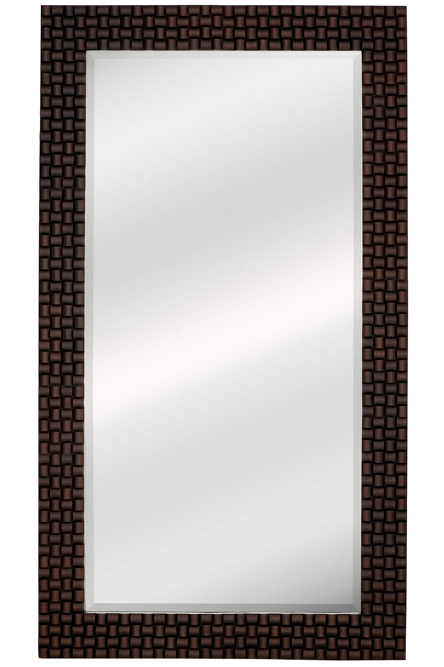 Majestic Mirror Oversized Dark Brown Rectangular Framed Beveled Gl Wall Wayfair
