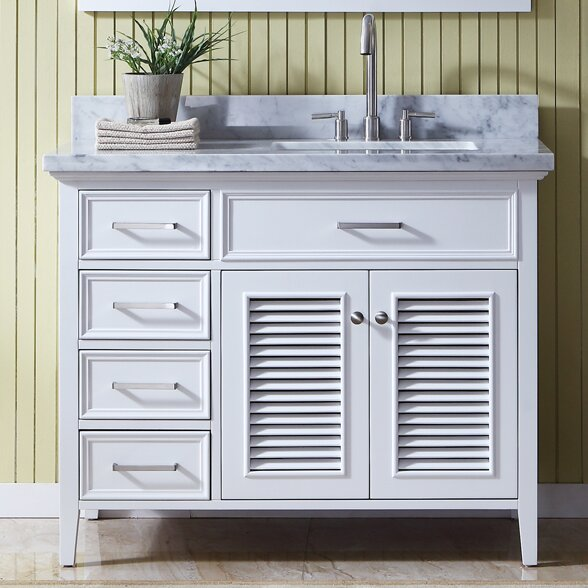 Highland dunes hamil right offset 43 single bathroom - Bathroom vanity with right offset sink ...