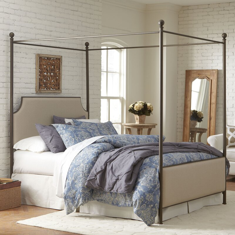 Birch Lane Williston Upholstered Canopy Bed Amp Reviews