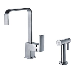 Whitehaus Collection Jem Single Handle Faucet with Side Spray