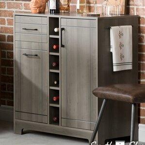 Grey Bar & Wine Cabinets You'll Love | Wayfair
