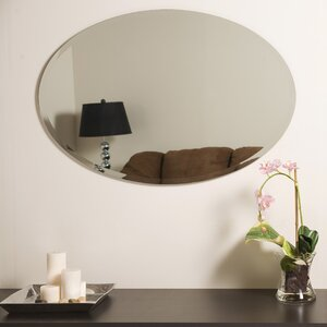 Mcatee Oval Bevel Frameless Wall Mirror