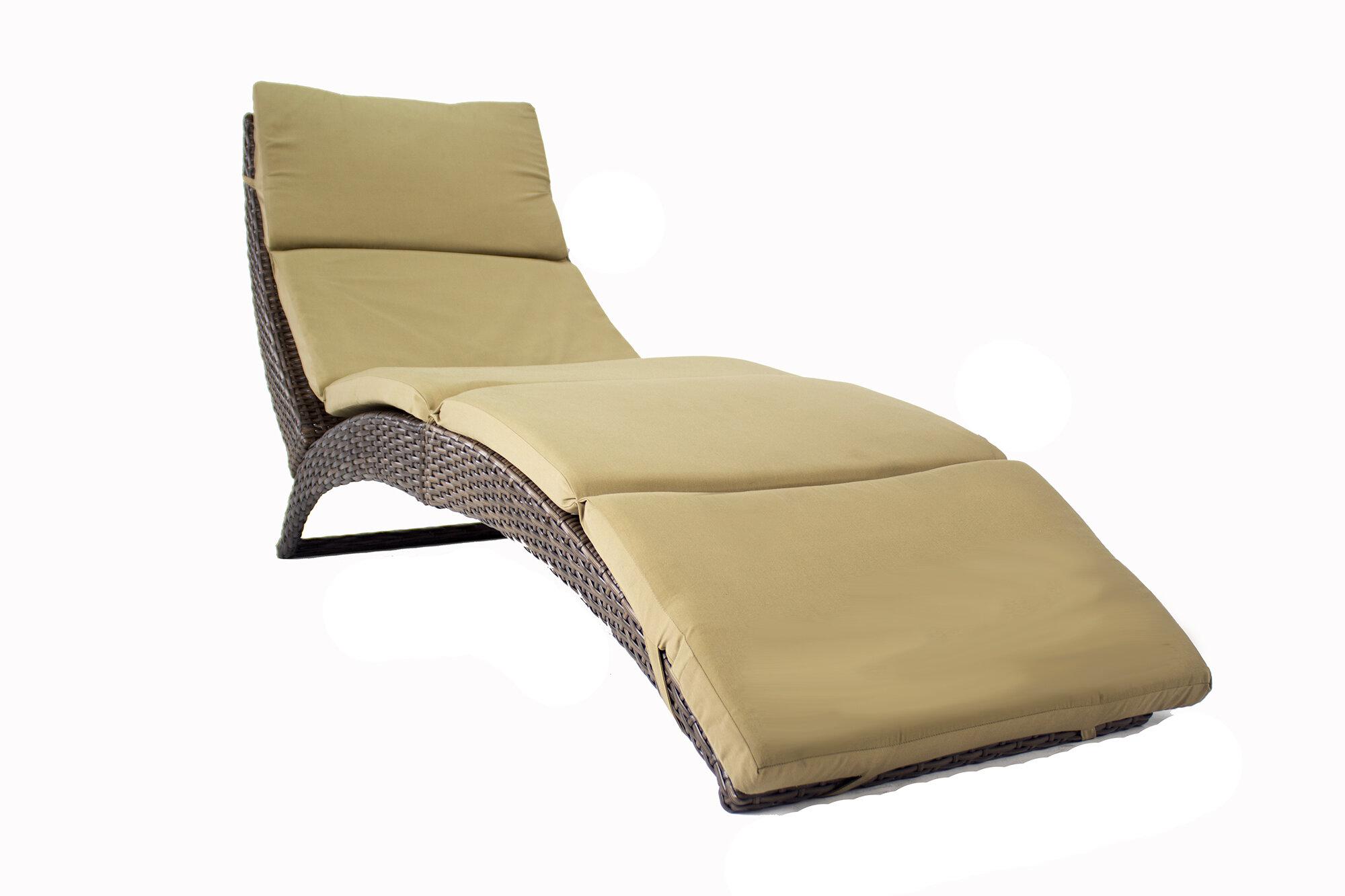 Bon Heather Ann Cancun Sun Chaise Lounge With Cushion U0026 Reviews | Wayfair