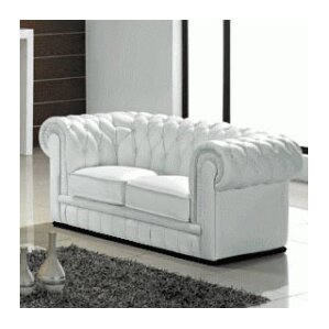 Botkin Leather Chesterfield Loveseat by Orre..