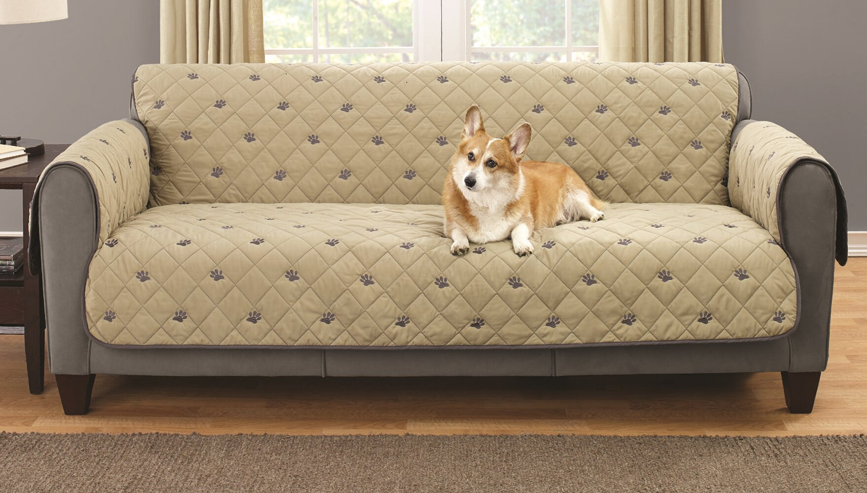 South Bay Sofa Embroidered Furniture Pet Protector With Non Slip Backing Reviews Wayfair