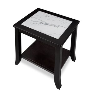 Christopher Natural Marble Top Wood End Table (Set Of 2)