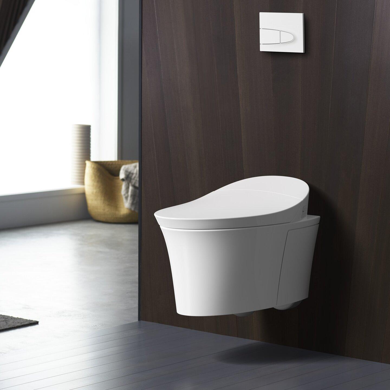 K 5402 0 Kohler Veil Intelligent Wall Hung Toilet With Touchless Flush Wayfair