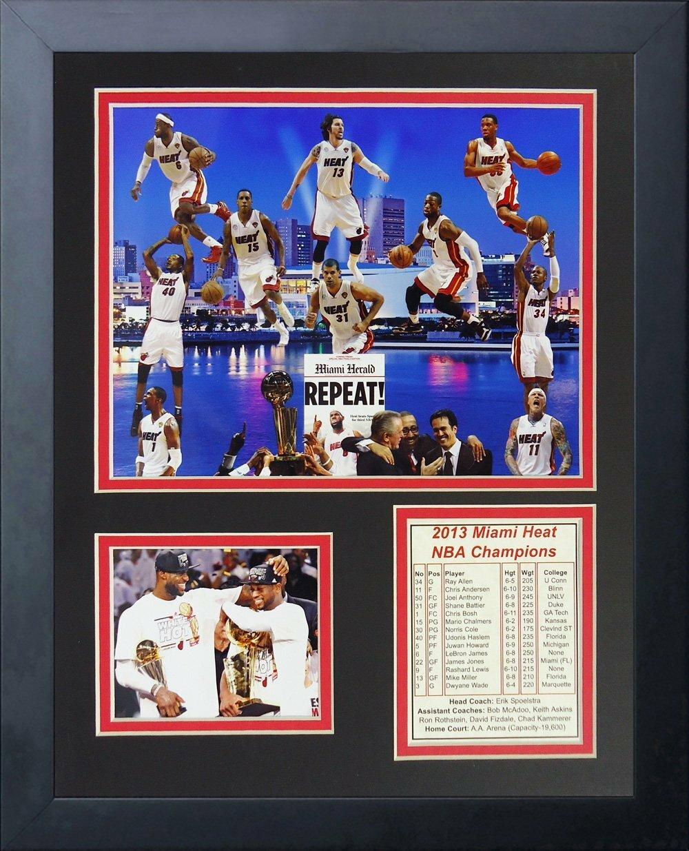 Legends Never 2017 Miami Heat Nba Champions Framed Memorabilia Wayfair
