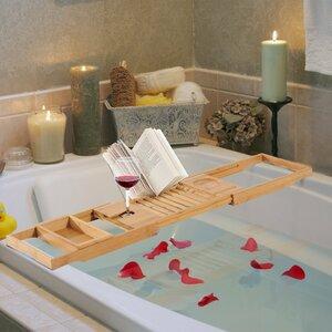 Extendable Bamboo Bath Rack