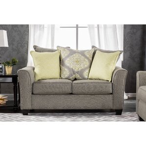 Frankie Contemporary Loveseat by Darby..
