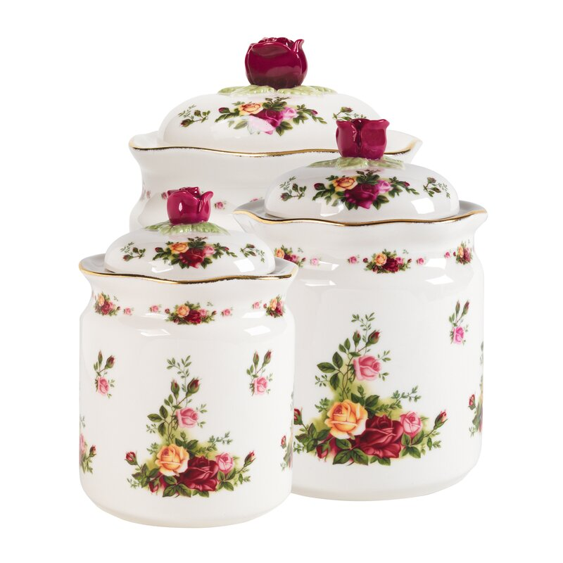 Kitchen Set Royal: Royal Albert Old Country Roses 3 Piece Kitchen Canister