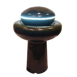 Resin Mushroom Outdoor Garden Water Fountain with LED Light
