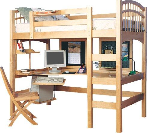 Epoch Design Mckenzie Twin Loft Bed Configurable Bedroom Set ...