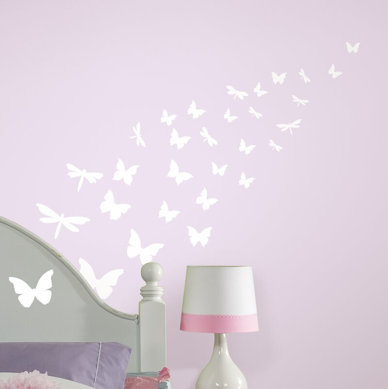 Room Mates Studio Designs Butterfly And Dragonfly Glow In The Dark