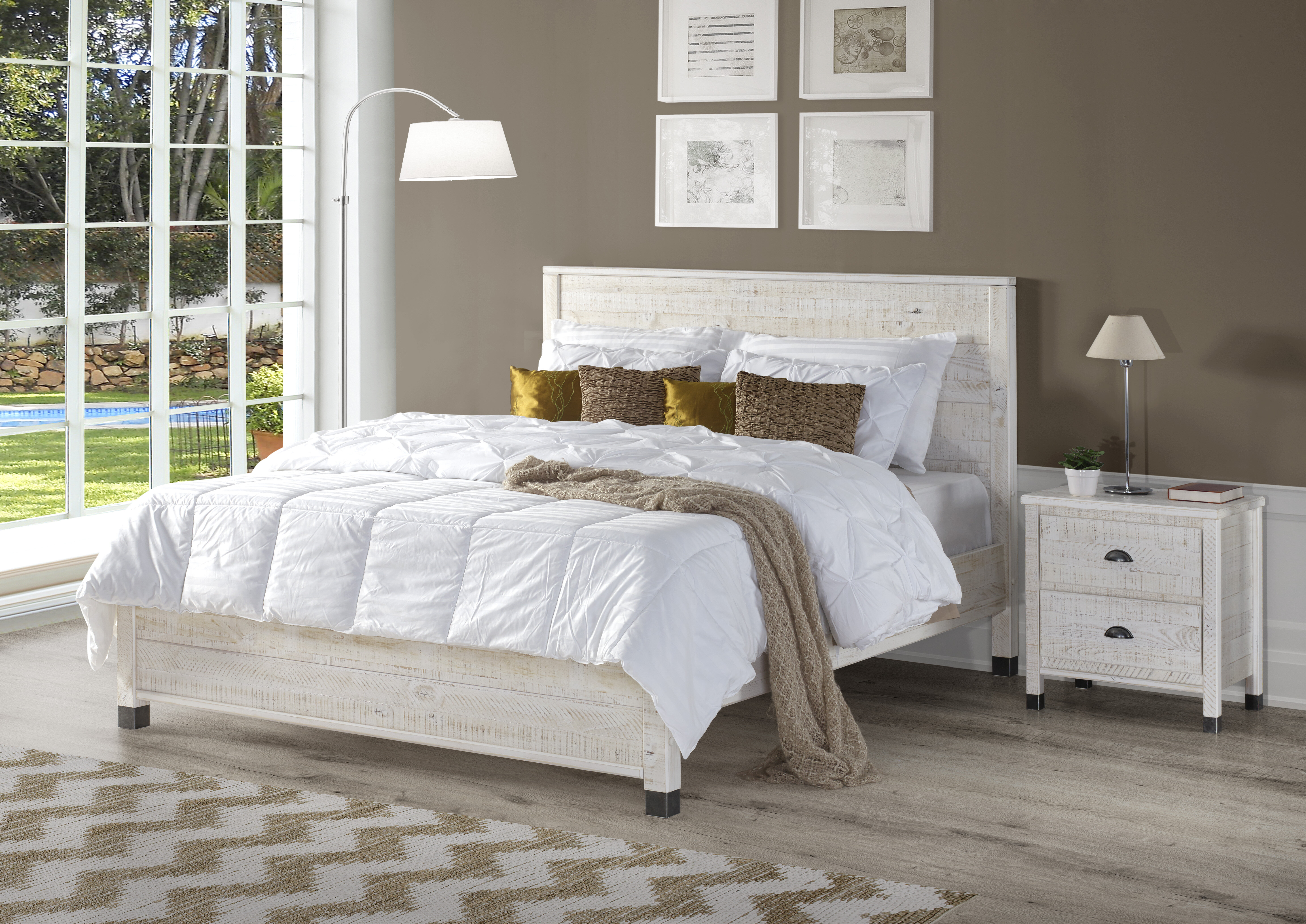 step of p platform south chocolate collection picture bed furniture shore one queen