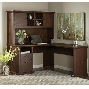 ferrell lshape corner desk with hutch
