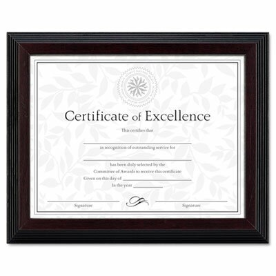Dax Manufacturing Inc Solid Wood Awardcertificate Frame 85 X 11