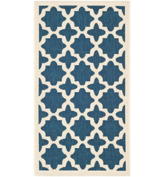 Alcott Hill Osgood Blue Indoor/Outdoor Area Rug & Reviews | Wayfair