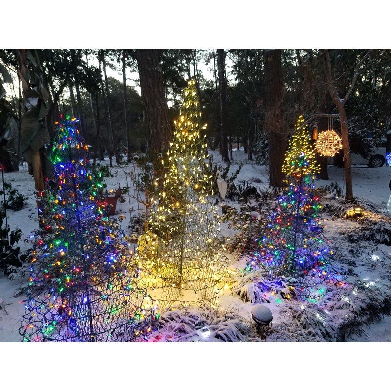 Crab Pot Christmas Tree With 350 Mini Lights