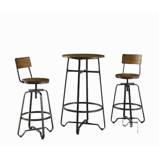 Carrick 3 Piece Pub Table Set (Set of 3)