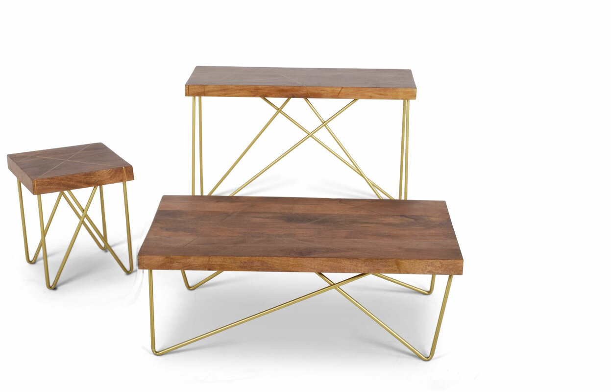 Lilyana 3 Piece Coffee Table Set