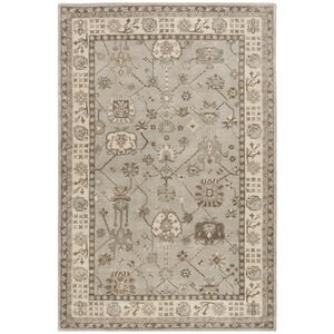Colliers Hand-Tufted Silver/Cream Area Rug