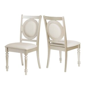 Aicha Stylish Upholstered Dining Chair (Set of 2) by Rosdorf Park
