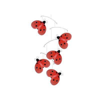 Ladybug Shimmer Nylon Hanging Mobile Bugs-n-Blooms Color: Red/Black