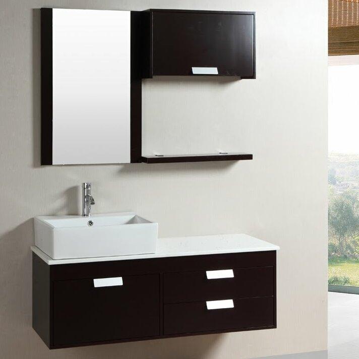 Kokols 52 Wall Mounted Single Bathroom Vanity Set With Mirror