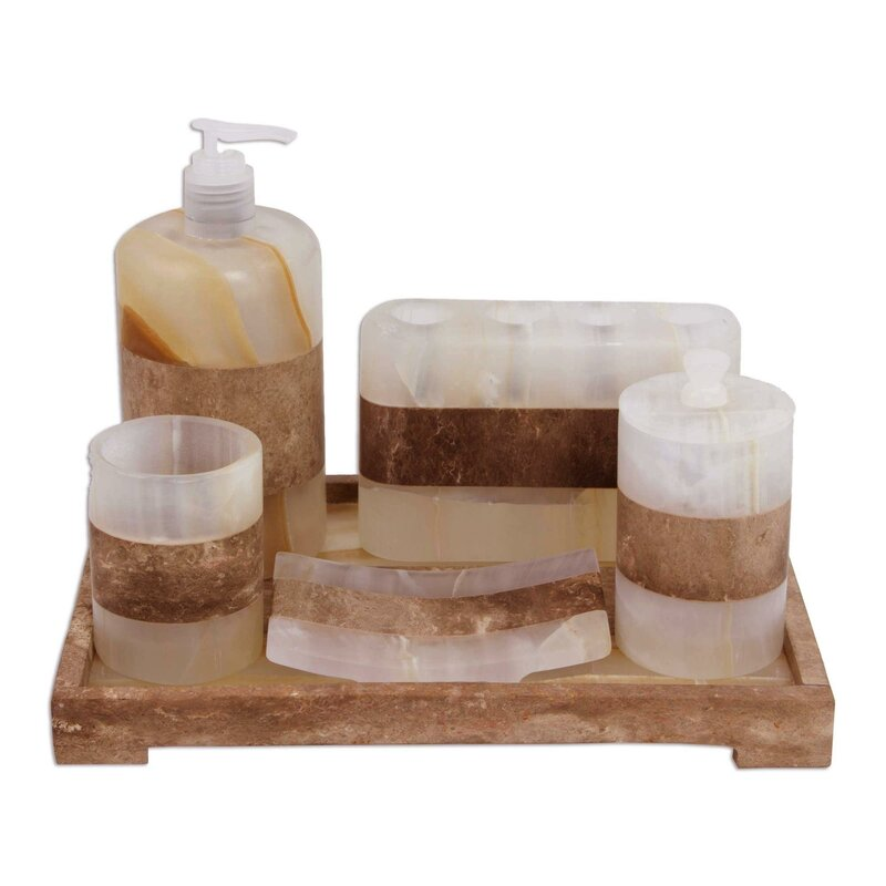 Schonbrunn Natureu0027s Bath 6 Piece Bathroom Accessory Set