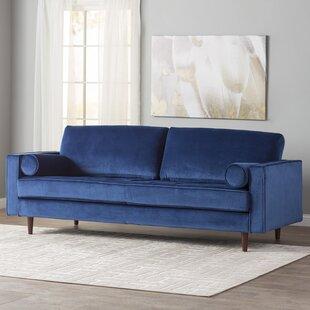 Delightful Navy Blue Velvet Sofa | Wayfair