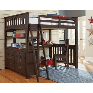 Adult Full Loft Bed With Desk Wayfair