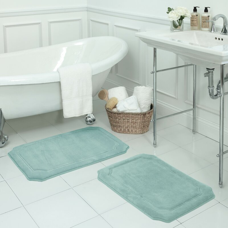 Bath Studio Walden Large Premium Micro Plush Memory Foam Bath Mat Set Reviews Wayfair