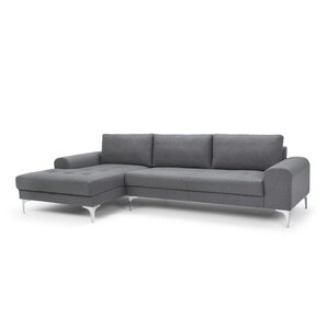 Rottman Solid Wood Frame Sectional Sofa  sc 1 st  AllModern : grey leather sectional couch - Sectionals, Sofas & Couches