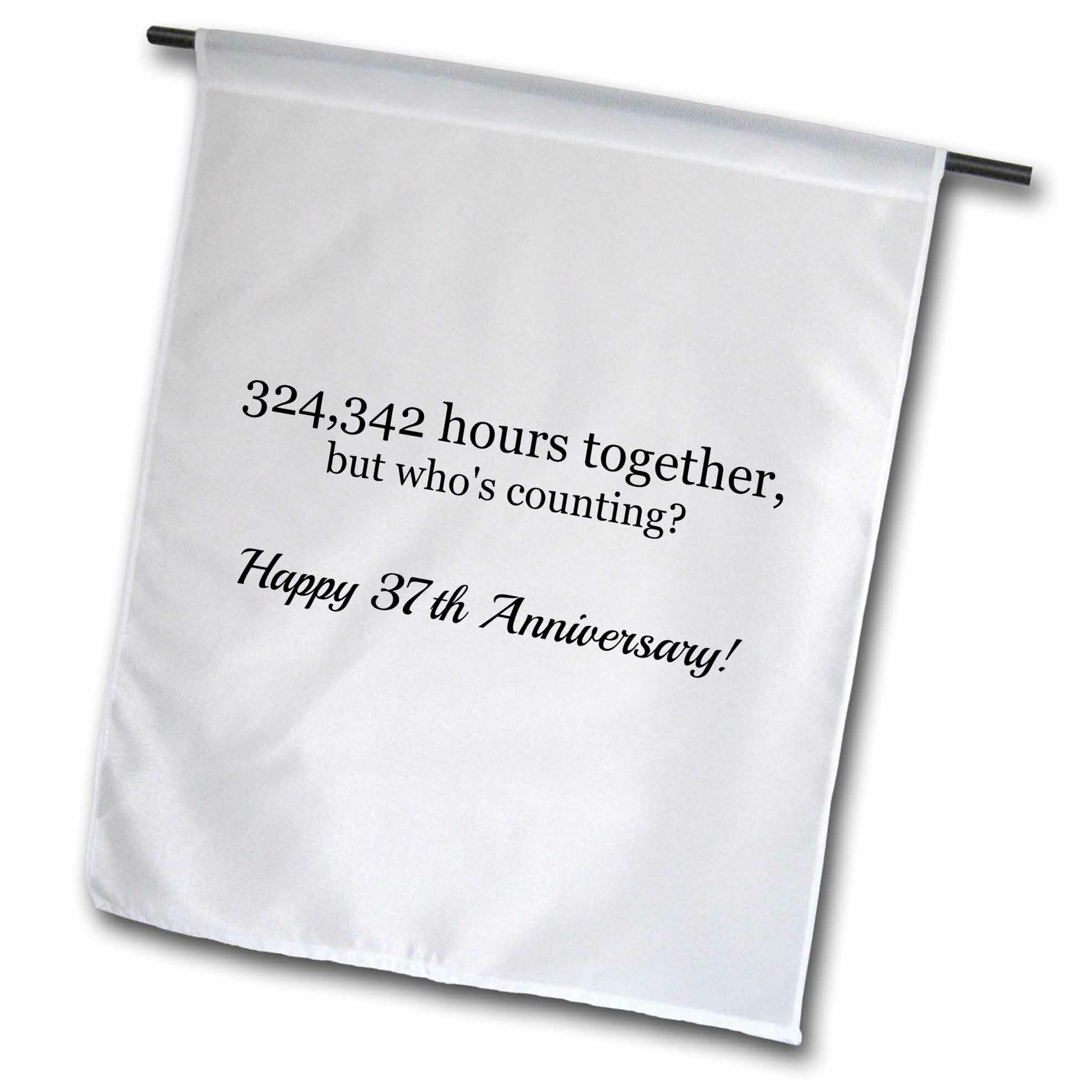 3drose Happy 37th Anniversary 324342 Hours Together Polyester 23