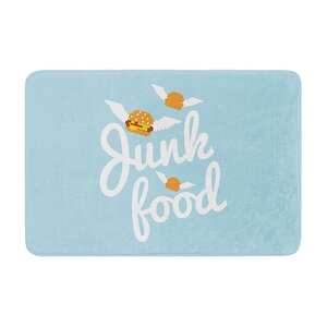 Junk Food Burger Memory Foam Bath Rug