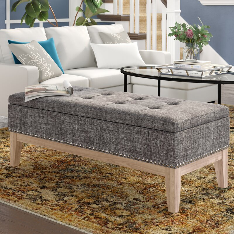 Ordinaire Lewistown Tufted Mid Century Upholstered Storage Bench