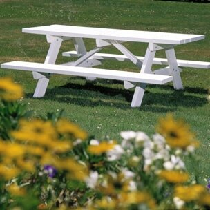Seaside Casual Picnic Table With Bench Amp Reviews Wayfair