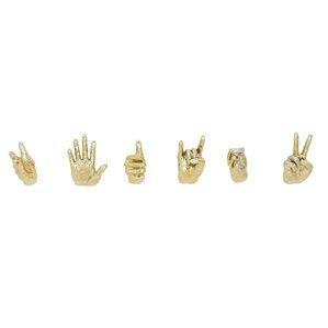6 piece modern hand resin wall dcor set
