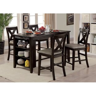 Ilya 5 Piece Counter Height Dining Set