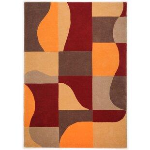 Harmony Handwoven Wool Orange Rug by Theko