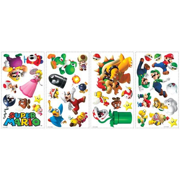 Room Mates Popular Characters Super Mario Wall Decal U0026 Reviews   Wayfair Part 52