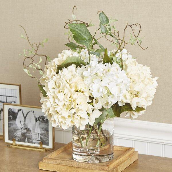 Birch Lane Faux Hydrangea With Vines In Vase Reviews Birch Lane